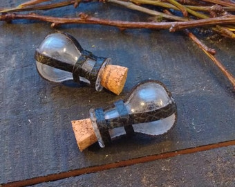 Miniature Potion bottle with Leather detail
