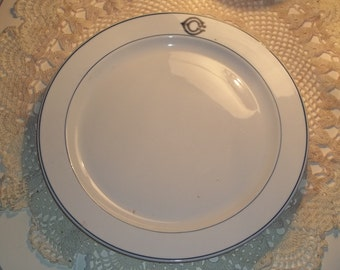 OP CO Syracuse China 1925 CC Hotel China platter