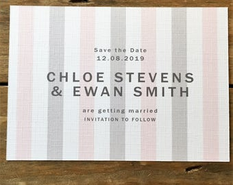 Candy Save the Date Printable Wedding Stationery, Personalised Digital PDF
