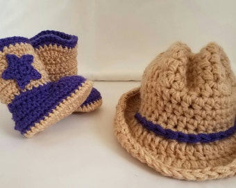 Cowgirl Hat & Boots 0-3m