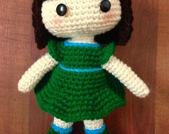 Crochet Doll, Handmade, Girl, Doll, Baby doll, customizable
