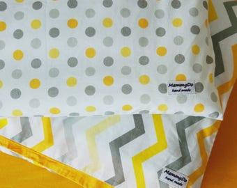 Baby bedding set,crib bedding,bright baby bedding,baby shower gift,orange baby bedding,chevron print,polka dots baby bedding,nursery bedding