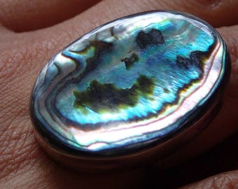 Large abalone ring