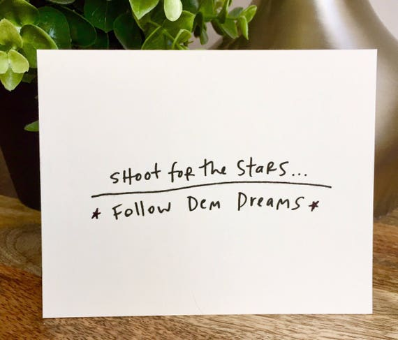 set of 10 notecards, shoot for the Stars card, Hand designed pattern note card, women empowerment cards, follow your dreams card