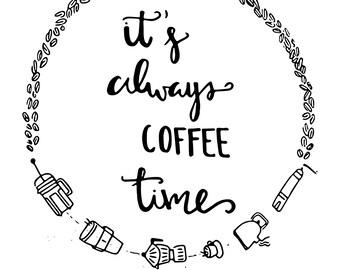 PRINT COFFEE TIME