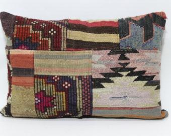 Bohemian Kilim Pillow Sofa Pillow 20x28 Patchwork Kilim Pillow Lumbar Pillow Bed Pillow Ethnic Pillow Cushion Cover   SP5070-734