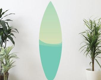 Waves Surfboard Wall Decal