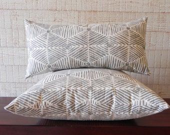 couch pillow,throw pillow,grey,ivory,geometric pillow,modern throw pillow,lumbar pillow,home decor // Own Your Leaf pillows