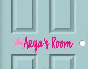 Kids Bedroom Door bedroom door decal | etsy