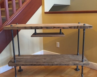 TV Stand Console Table With Hanging Shelf