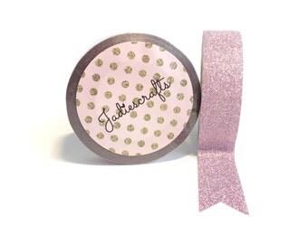 Vintage Rose Glitter Washi Tape | Pink