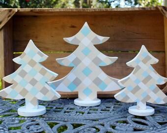 Wood Trees, Christmas Trees, Farmhouse Christmas, Farmhouse decor, Rustic Trees, Wooden Trees, Table trees, Tabletop trees, Farmhouse table