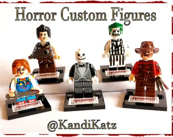 Horror lego etsy horror mini figuresblock toyscustom deadjack skellingtonfreddy kreuger negle Image collections