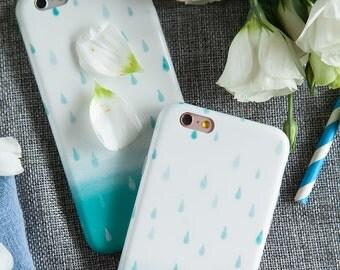 iPhone 7 Case iPhone Case 7 - Watercolor Rain - Vintage Phone Case - Ultra slim - Matte