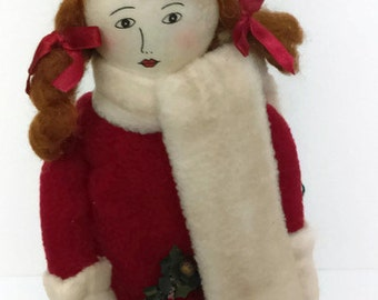 Vintage christmas Rag Doll Home Decor For Decoration Only