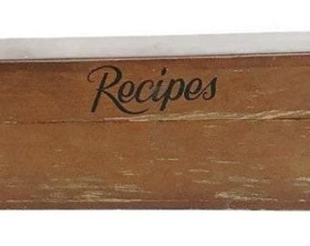Vintage Distressed Recipe Wooden Box