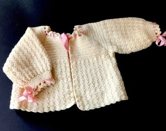 Sweet Antique Knit Wool Sweater for Baby Doll
