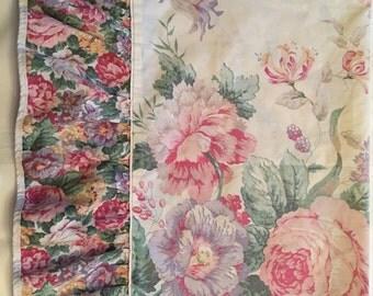 Vintage Pillowcase / Field Crest Pink Floral Pillowcase