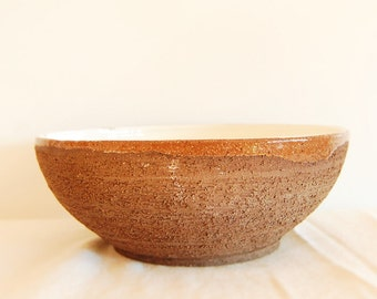 Dinnerware. Salad  bowl made with groggy red clay