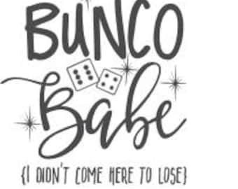 "Bunco Babe Decal 3.75"" tall"