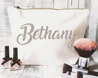 Personalised makeup bag- Cosmetic bag- Unique gift- Toiletry bag- large cosmetic bag- Funny quote- Name cosmetic bag-Hen party- Bridesmaid