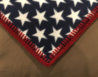 American Flag Stars and Stripes Adult Lapghan