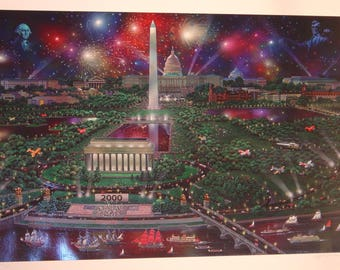Unframed Washington Celebration 2000 by Alexander Chen with Certificate of Authenticity (MM)