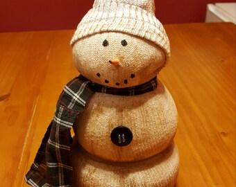 Primitive Sock Snowman