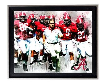 University of Alabama Crimson Tide Art Print Matte Print Poster 20 X 16 Splatter