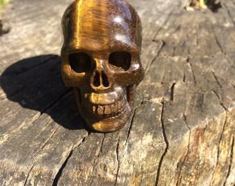 Natural Tigers Eye Crystal Skull