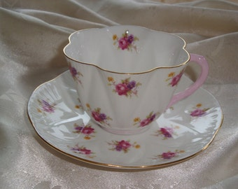 REDUCED  Shelley Small Hulmes ROSE Tea Cup and Saucer #2334