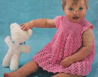 "Vintage Peter Pan P137 Crochet Dress Pattern 20"" chest"