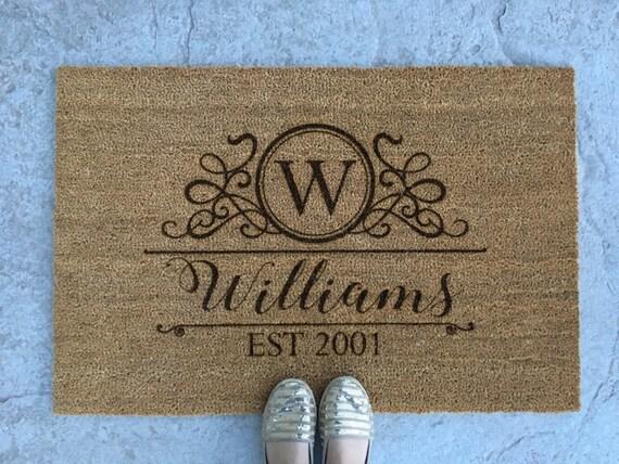 personalized welcome mat monogram door mat custom welcome
