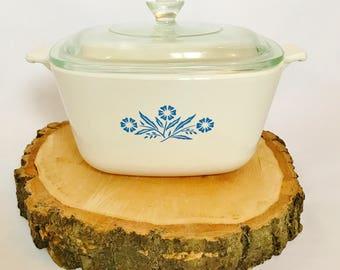 Retro Corning Ware 7 Cup Casserole Dish