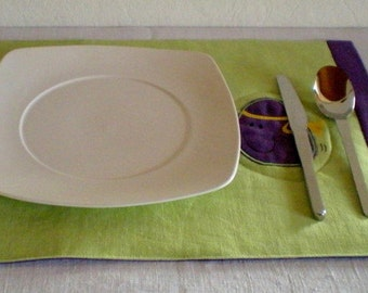 Placemats placemat egg boy 100% line applied Easter
