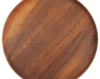 Wooden Plate, 8 inches (20 cm.), wooden plate, handmade wooden plate, wooden bowl, wooden dish,plate,bowl, dish,