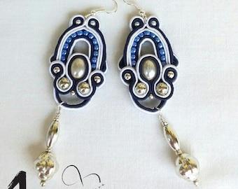 """Earrings soutache """"Fool""""/Soutache earrings """"Fool"""""""