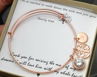 Mother in law gift , mother in law wedding gift , mother of the bride gift,mother of the groom gift ,mother daughter bracelet , wedding gift