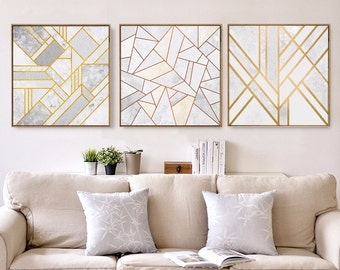 Geometric Marble Minimalist Wall Art, Wall Print, Canvas Wall Art, Canvas  Wall Print