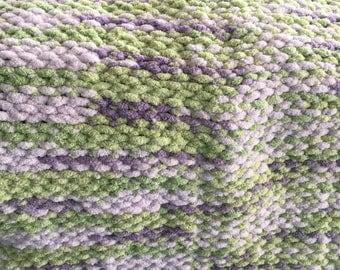 Handmade Knit Baby Blanket