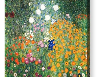 "Gustav Klimt ""Flower Garden"" Canvas/ Photo Print Art Repro 8""x8"", 10""x10"", 16""x16"", 20""x20"", 24""x24"", 30""x30"", 44""x44"""