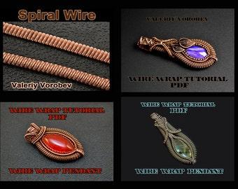4 books PDF. Wire wrap tutorials. Wire Wrap Pendants.