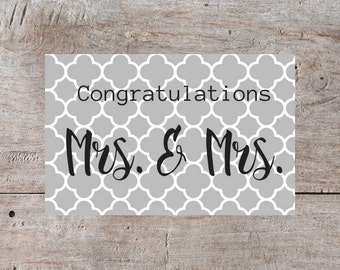 Gay Wedding Card, Gay Wedding, Gay Congratulations, Mrs Gay Marriage, Gay Marriage, Gay Women Marriage Card, Gay Women Congratulations