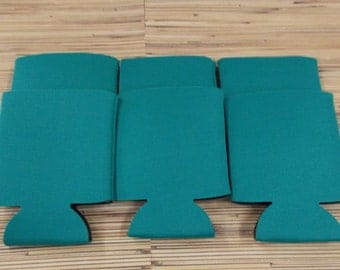 Teal, Blank can coolies, free shipping