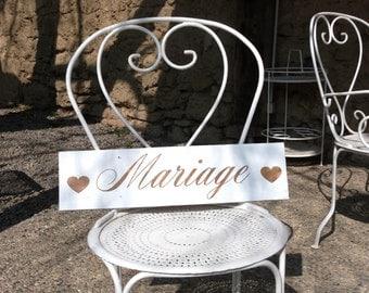 Panneau en bois pour mariage. Signalétique bois mariage. French wedding wood sign