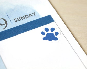 Pet Icon Stickers, 48 pet paws planner stickers, cat dog vet walk feed grooming reminders, ...