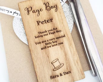 Page Boy Place Setting, Page boy Wooden Place Setting, Place Cards, Name place, Place Setting, Page boy gift, PS09