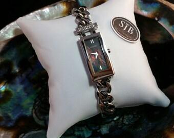 SALE Pulsar Watch, Women's Pulsar Watch, Square Pulsar Watch, Ladies chain style watch, Retired Watches, ladies wrist watch, Model #PEG705