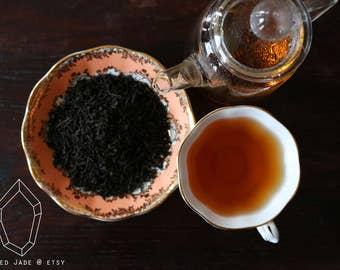 Smokey, Lapsang Souchong, Rustic Artisan, Black Tea, Tea Lovers, Customizable Gift.
