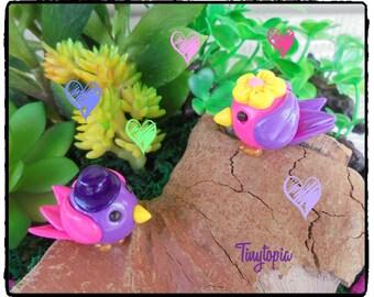 Miniature Lovebirds (Set of 2) Fairy Garden Accessory